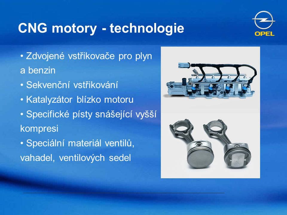CNG motory - technologie
