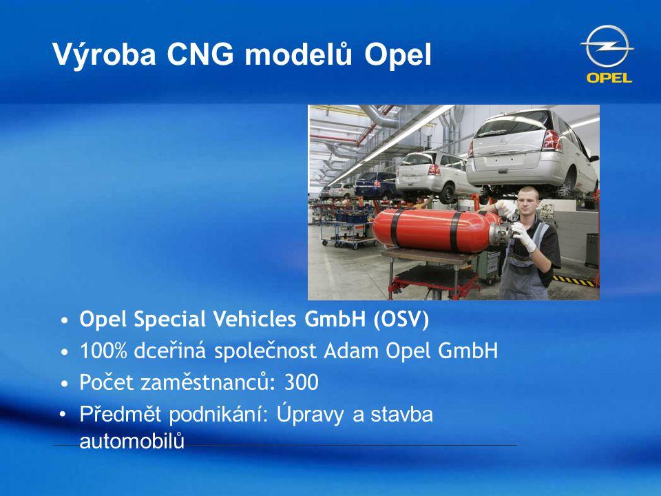 Výroba CNG modelů Opel Opel Special Vehicles GmbH (OSV)