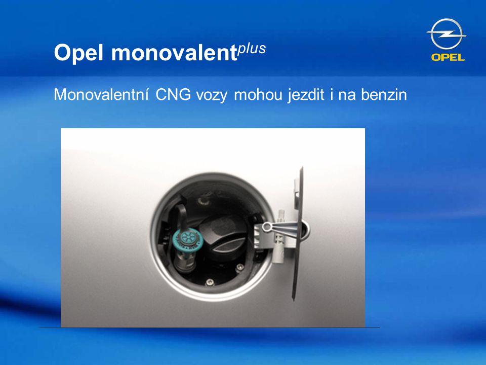 Opel monovalentplus Monovalentní CNG vozy mohou jezdit i na benzin
