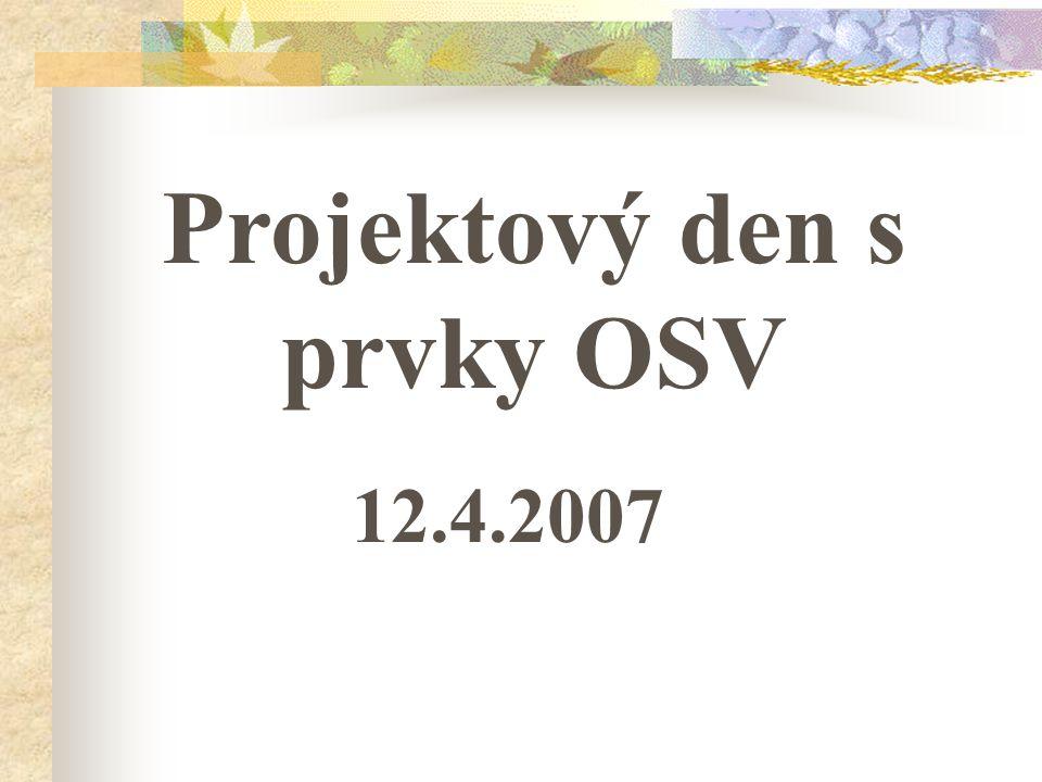 Projektový den s prvky OSV
