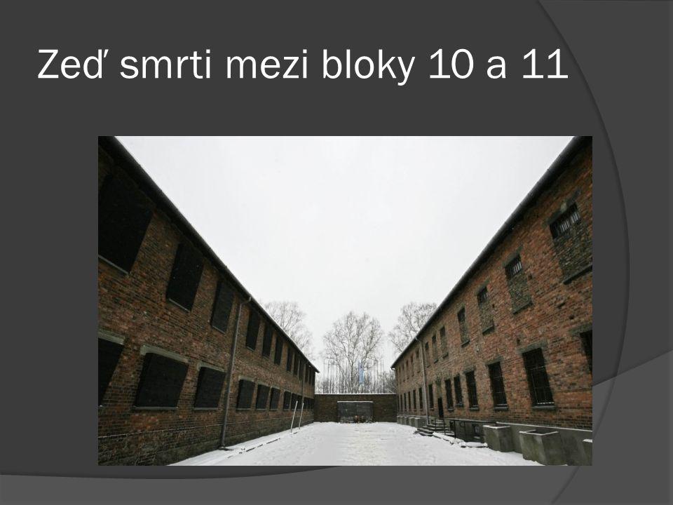 Zeď smrti mezi bloky 10 a 11