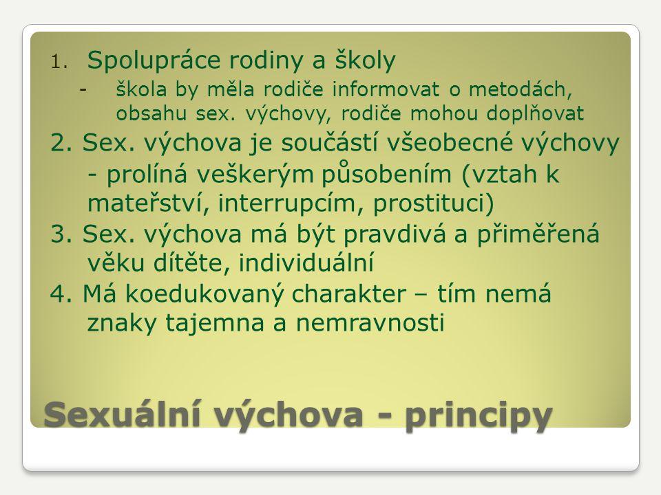 Sexuální výchova - principy