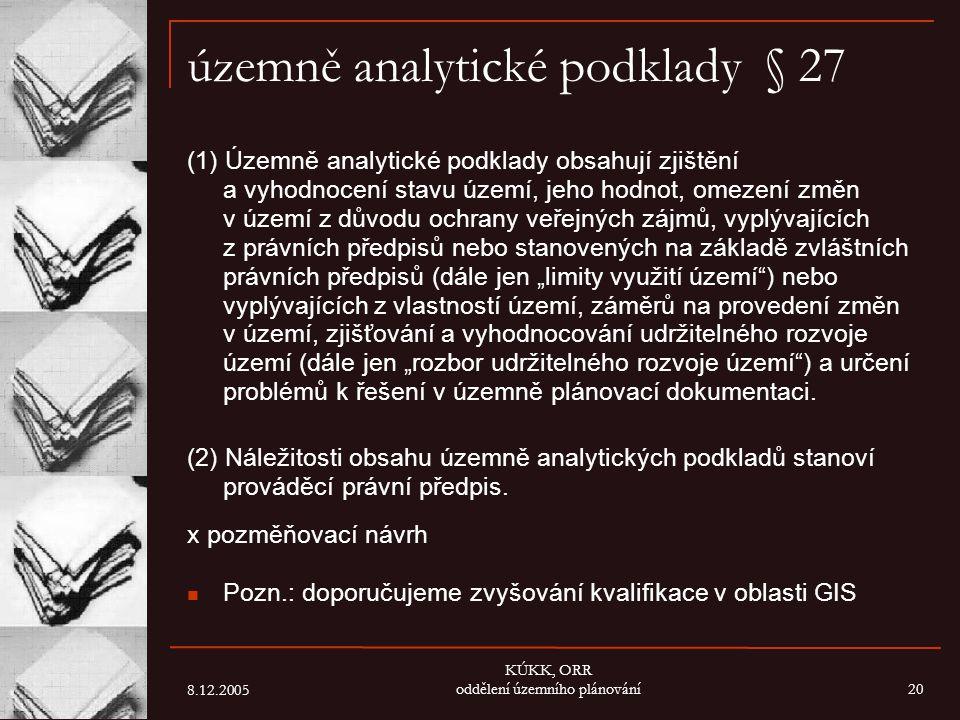 územně analytické podklady § 27