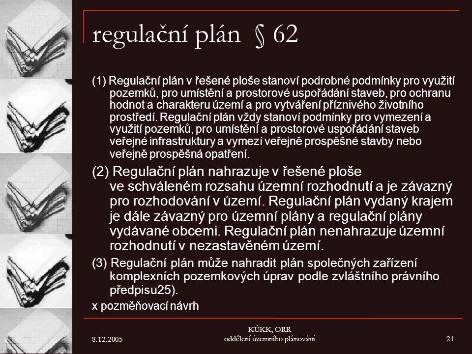 KÚKK, ORR oddělení územního plánování
