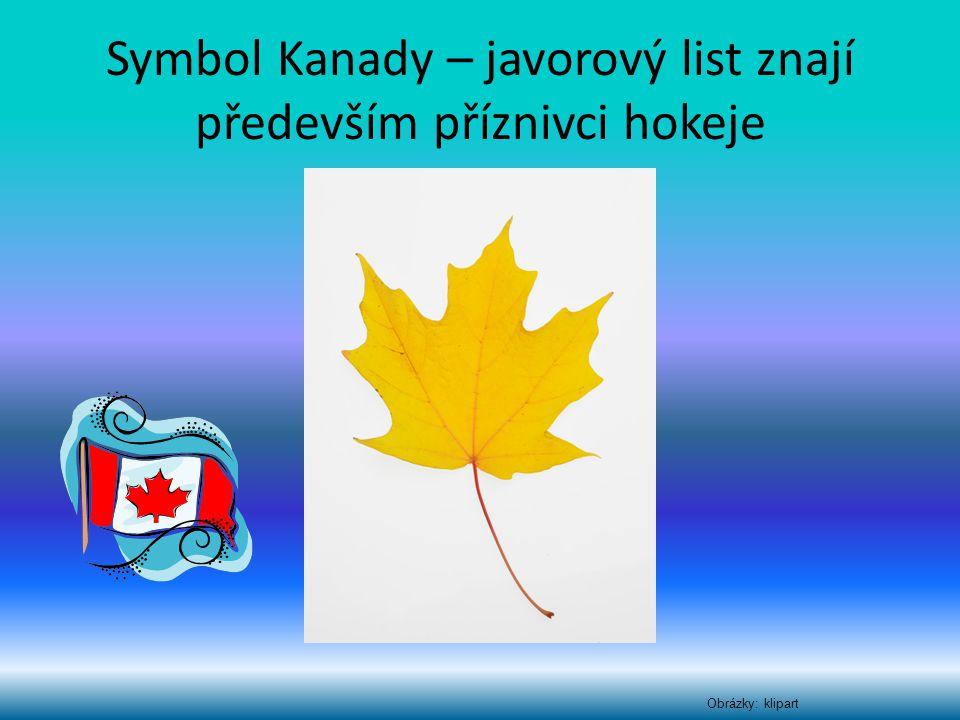 Symbol Kanady – javorový list znají především příznivci hokeje