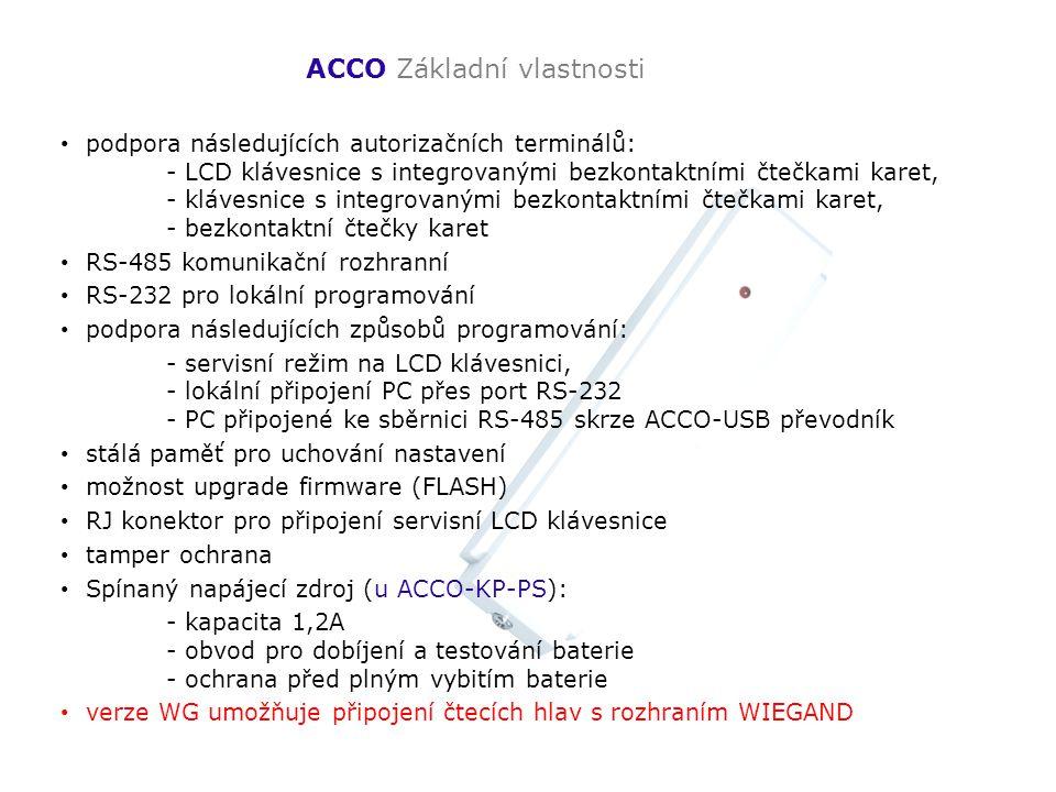 ACCO Základní vlastnosti