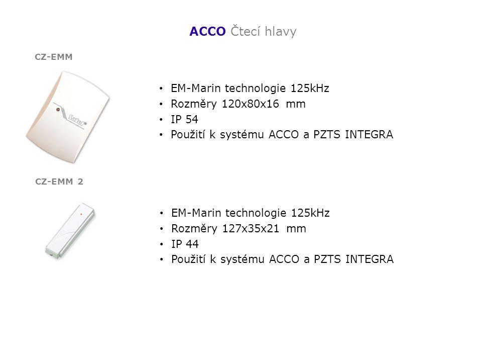 ACCO Čtecí hlavy EM-Marin technologie 125kHz Rozměry 120x80x16 mm