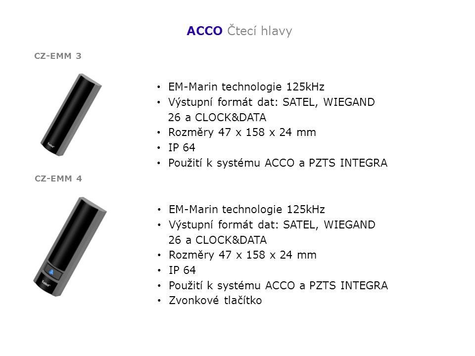 ACCO Čtecí hlavy EM-Marin technologie 125kHz