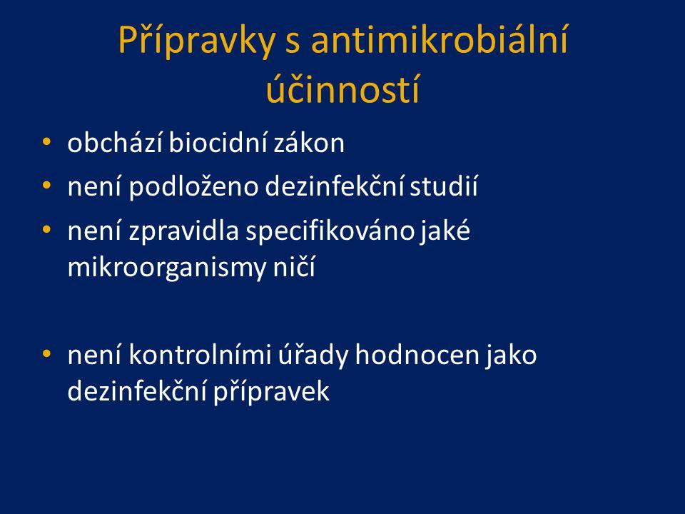 Přípravky s antimikrobiální účinností