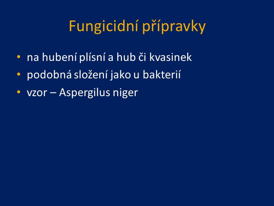 Fungicidní přípravky na hubení plísní a hub či kvasinek