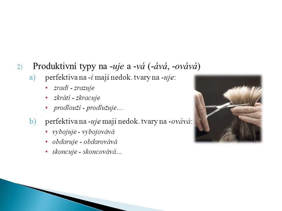 Produktivní typy na -uje a -vá (-ává, -ovává)