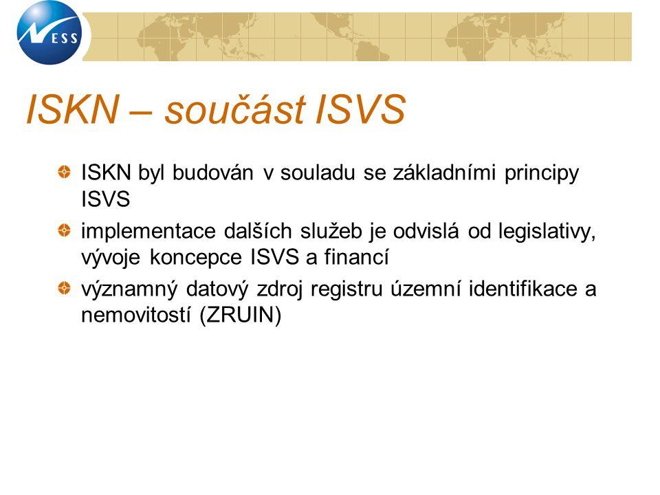 ISKN – součást ISVS ISKN byl budován v souladu se základními principy ISVS.
