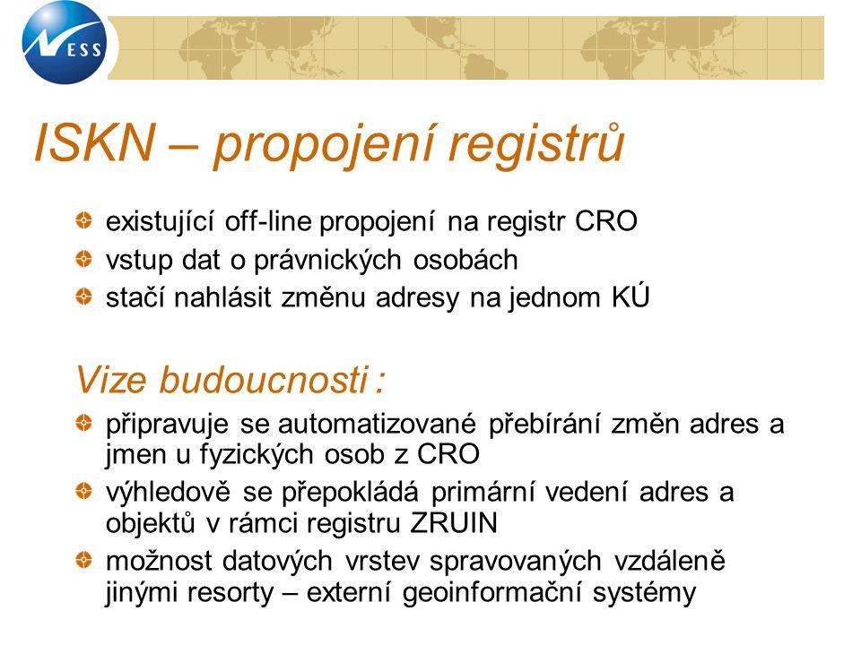 ISKN – propojení registrů