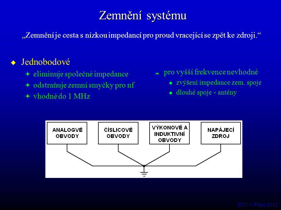 Zemnění systému Jednobodové
