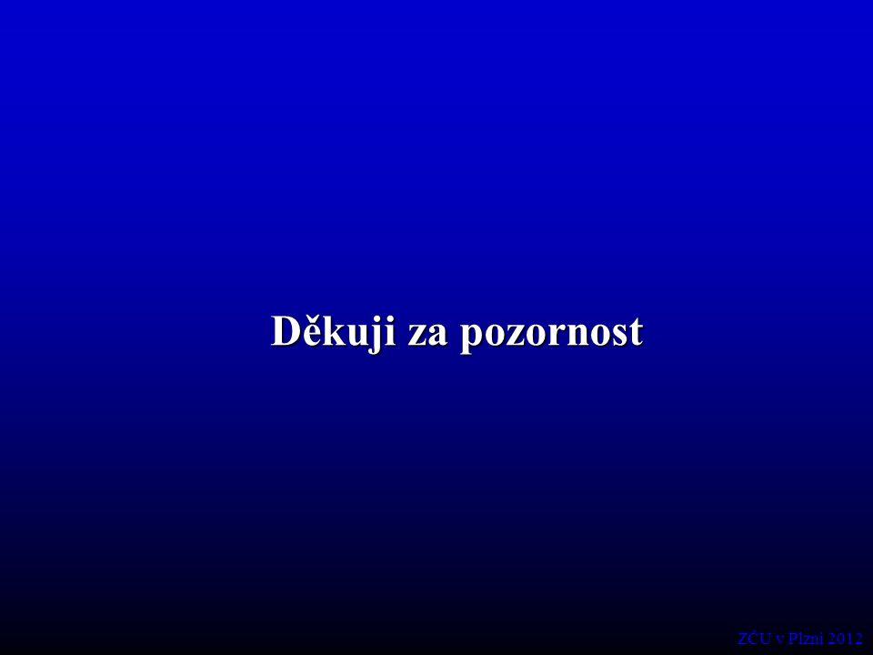 Děkuji za pozornost ZČU v Plzni 2012
