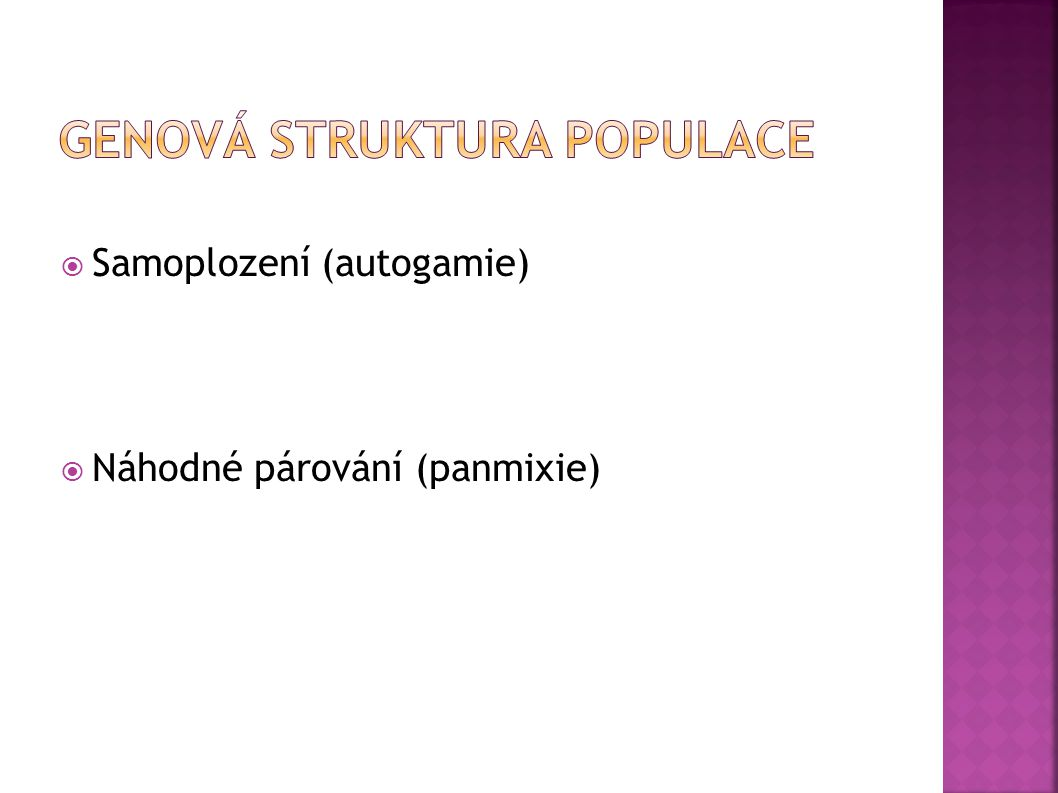 Genová struktura populace