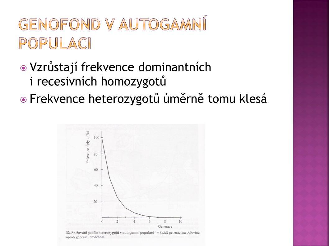 Genofond v autogamní populaci
