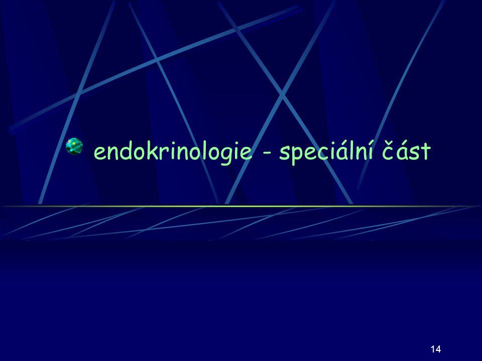 endokrinologie - speciální část