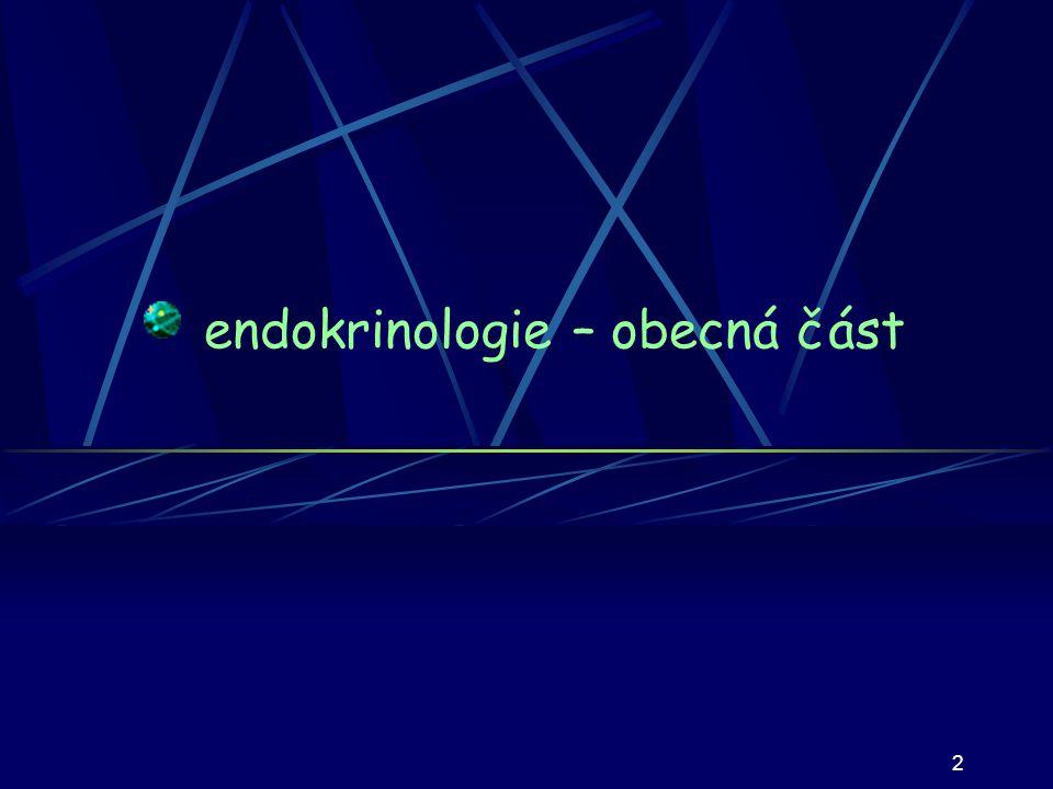 endokrinologie – obecná část