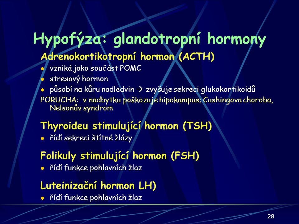 Hypofýza: glandotropní hormony