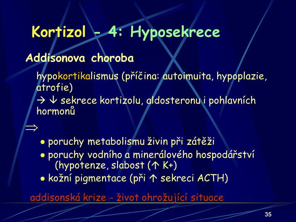 Kortizol - 4: Hyposekrece