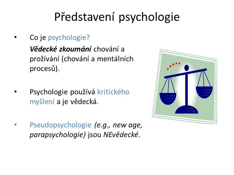 Představení psychologie