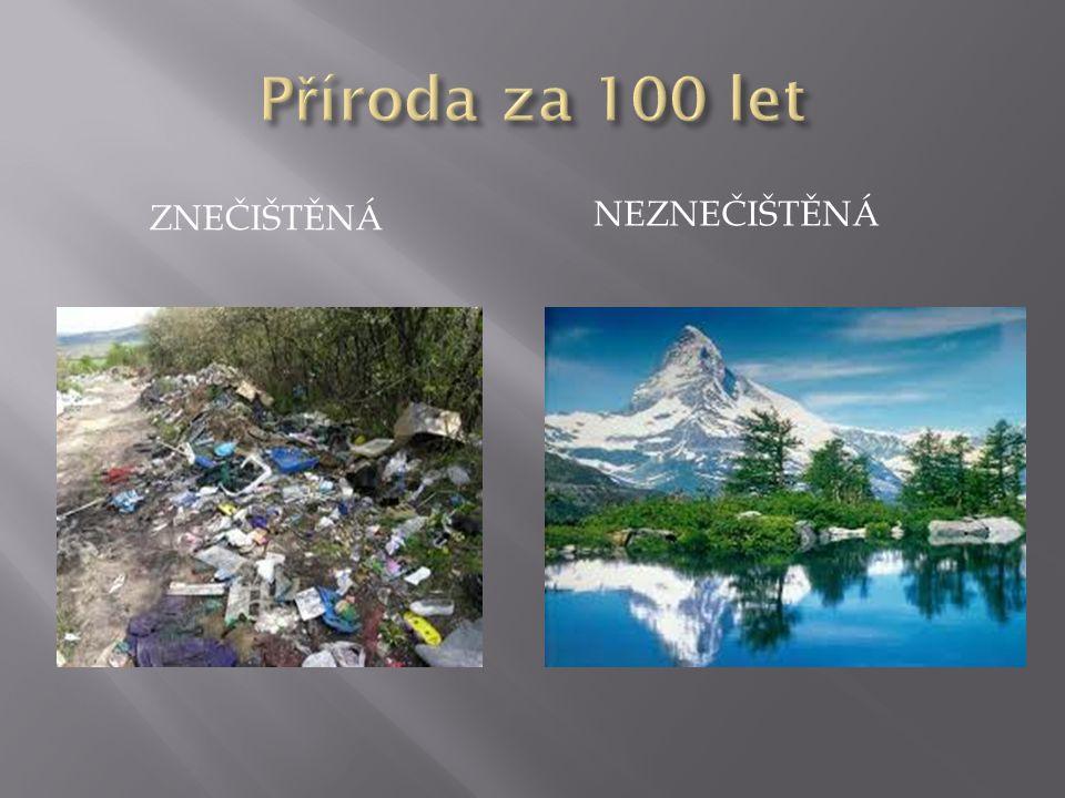 Příroda za 100 let Znečištěná neznečištěná