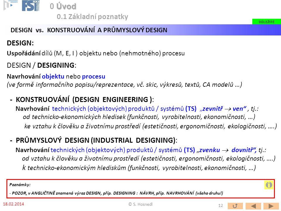 i 0 Úvod 0.1 Základní poznatky DESIGN: DESIGN / DESIGNING: