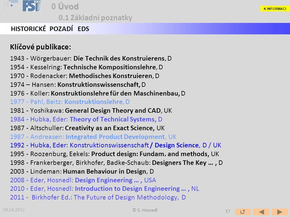 0 Úvod 0.1 Základní poznatky Klíčové publikace: HISTORICKÉ POZADÍ EDS