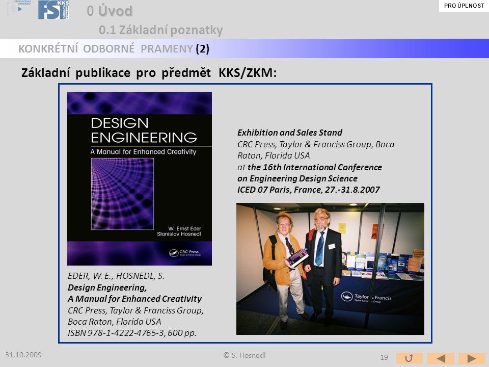 Základní publikace pro předmět KKS/ZKM: