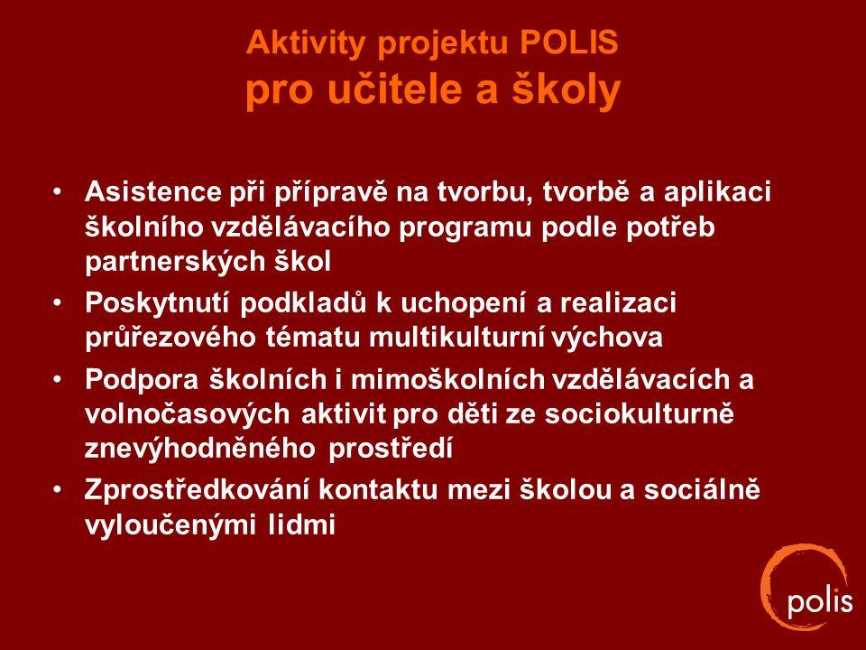 Aktivity projektu POLIS pro učitele a školy