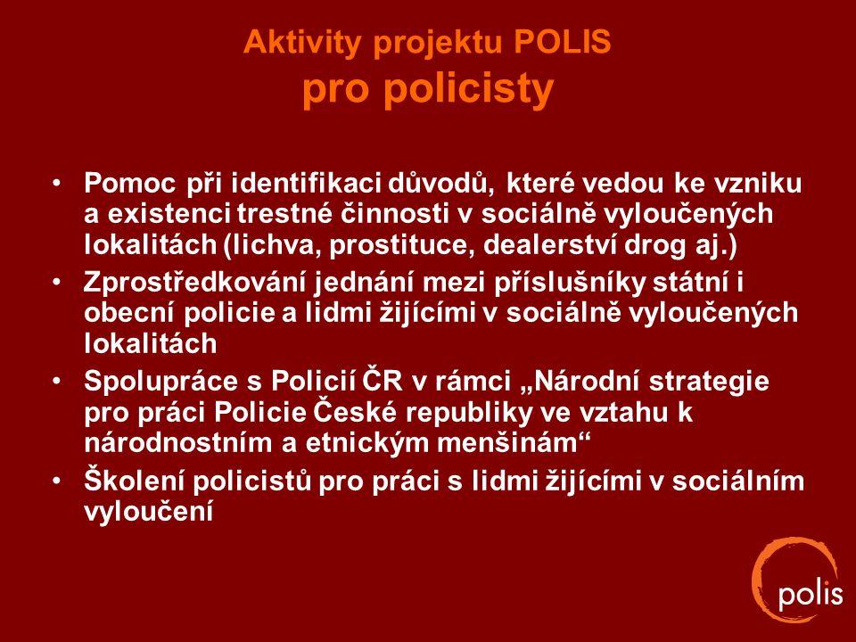 Aktivity projektu POLIS pro policisty