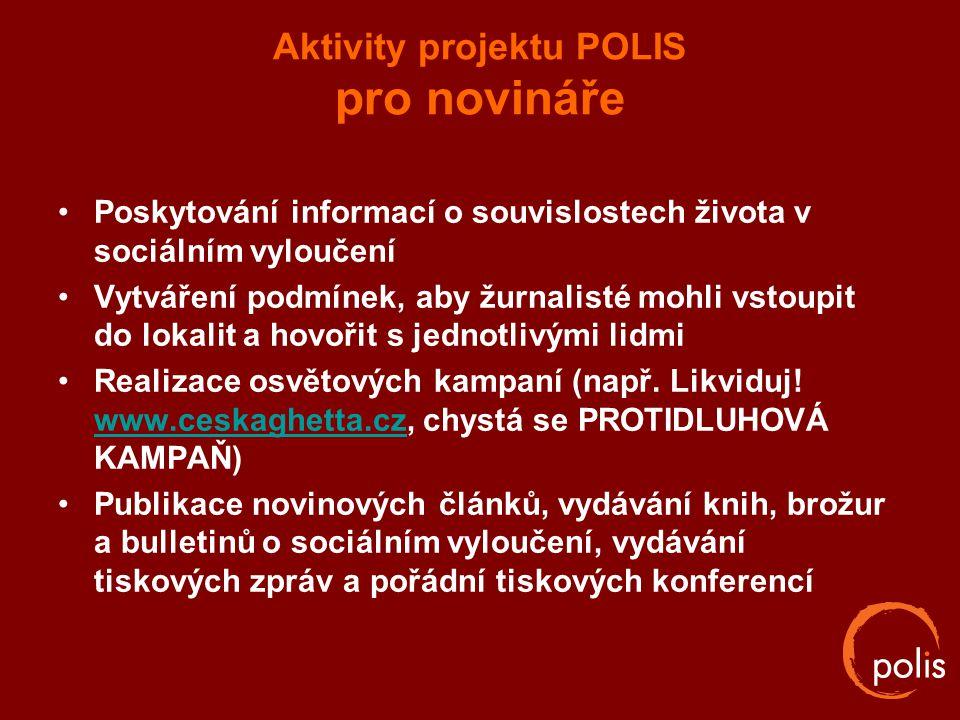 Aktivity projektu POLIS pro novináře