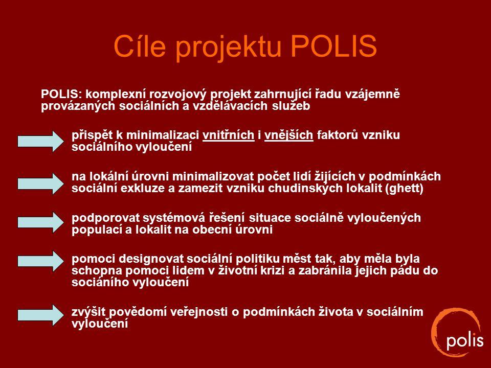 Cíle projektu POLIS POLIS: komplexní rozvojový projekt zahrnující řadu vzájemně provázaných sociálních a vzdělávacích služeb.