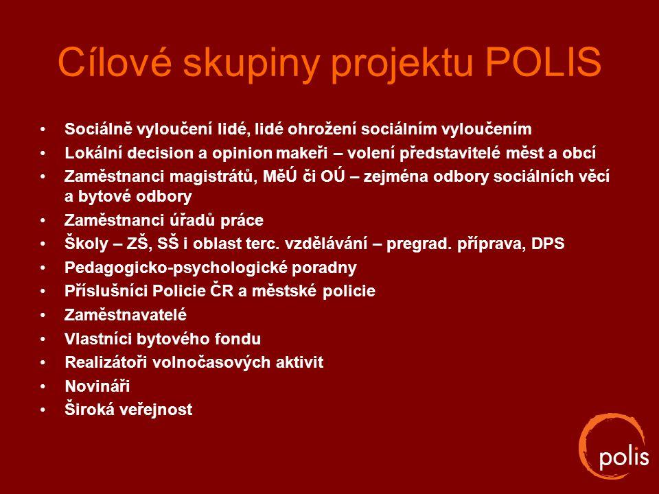 Cílové skupiny projektu POLIS
