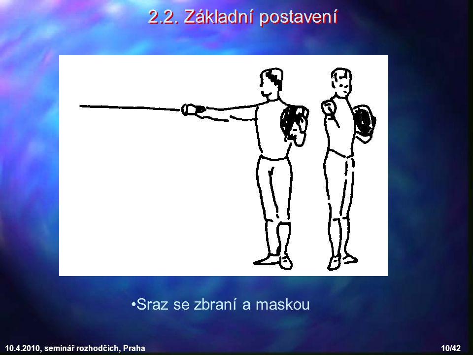 2.2. Základní postavení Sraz se zbraní a maskou
