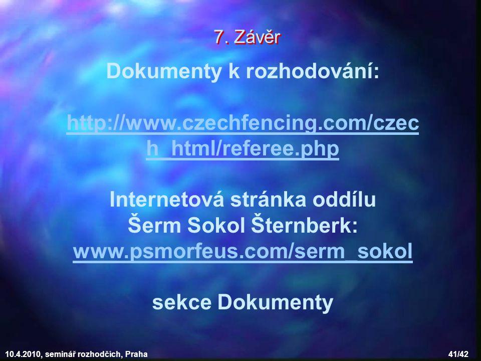 Dokumenty k rozhodování: Internetová stránka oddílu