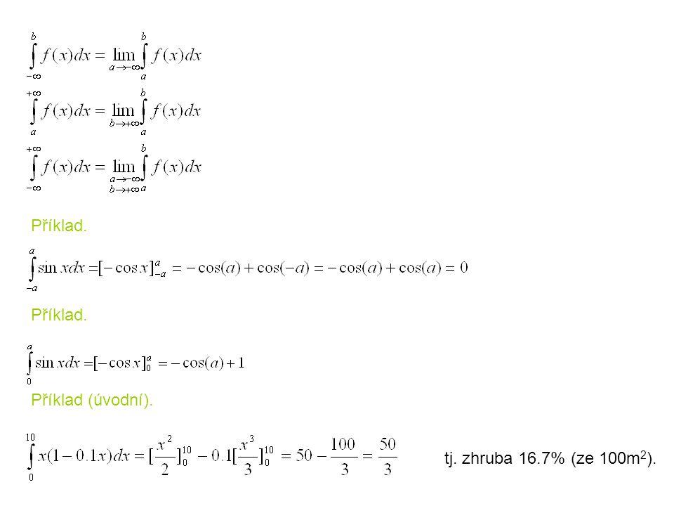 Příklad. Příklad. Příklad (úvodní). tj. zhruba 16.7% (ze 100m2).