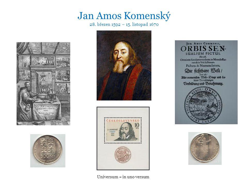 Jan Amos Komenský 28. březen 1592 – 15. listopad 1670