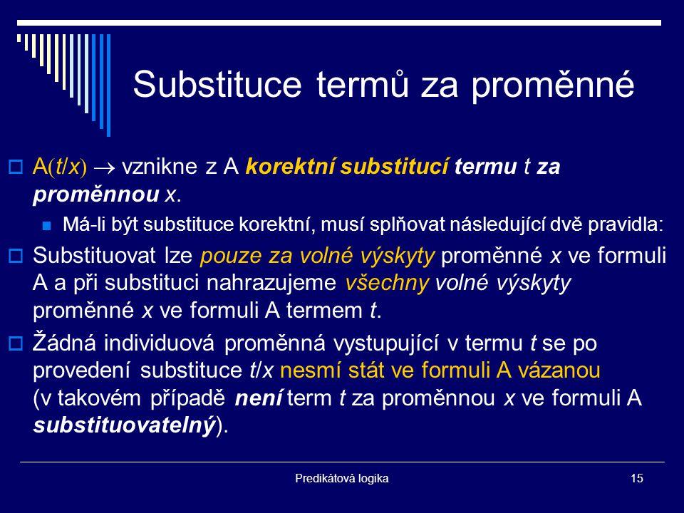 Substituce termů za proměnné