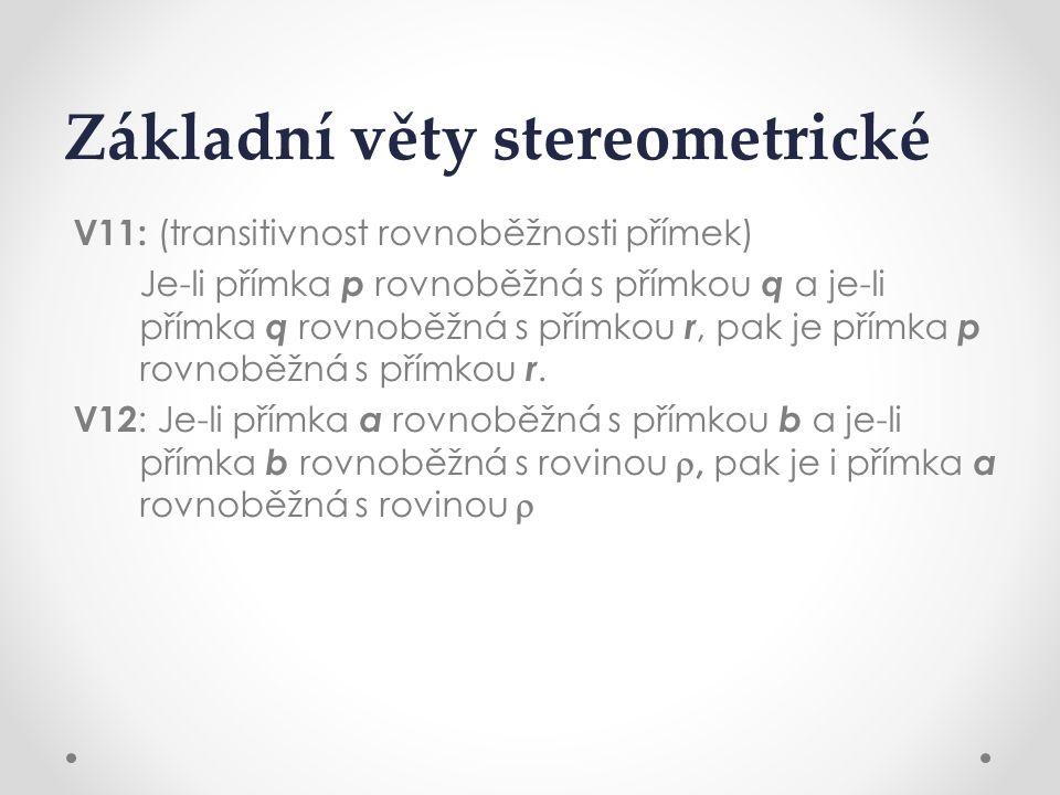 Základní věty stereometrické