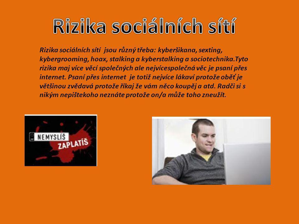 Rizika sociálních sítí