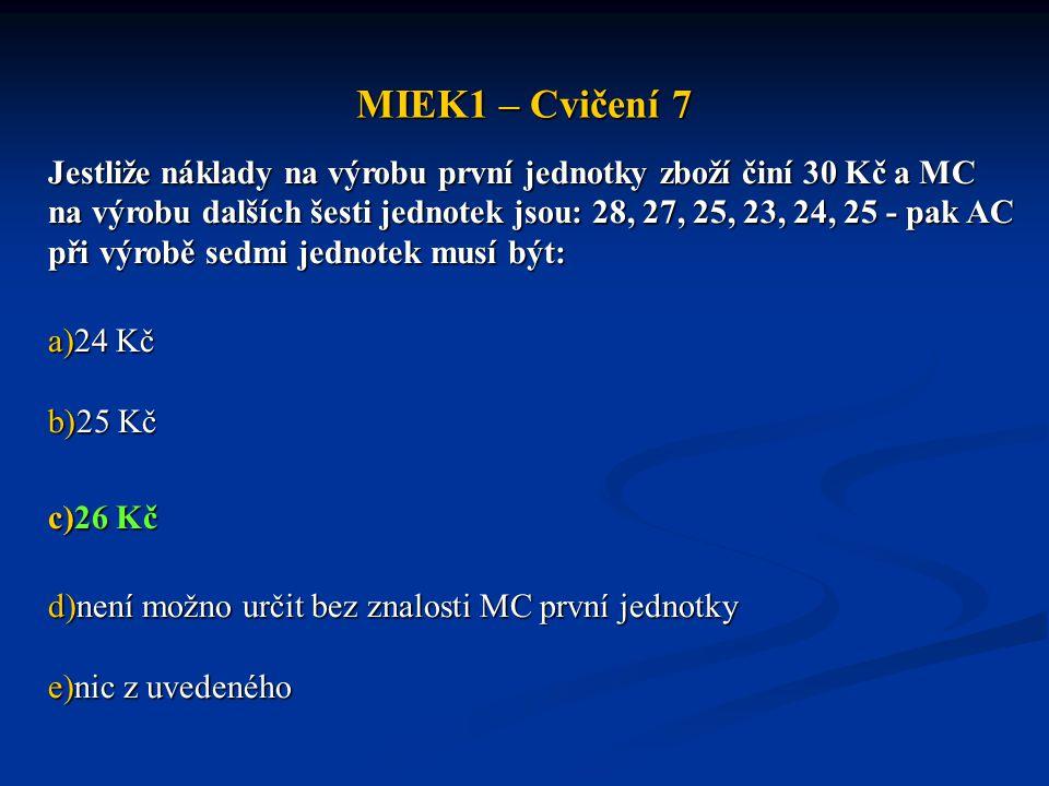 MIEK1 – Cvičení 7