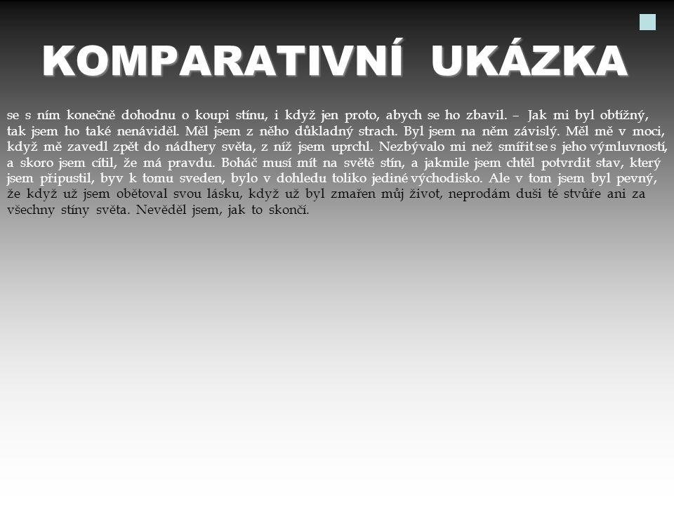 KOMPARATIVNÍ UKÁZKA