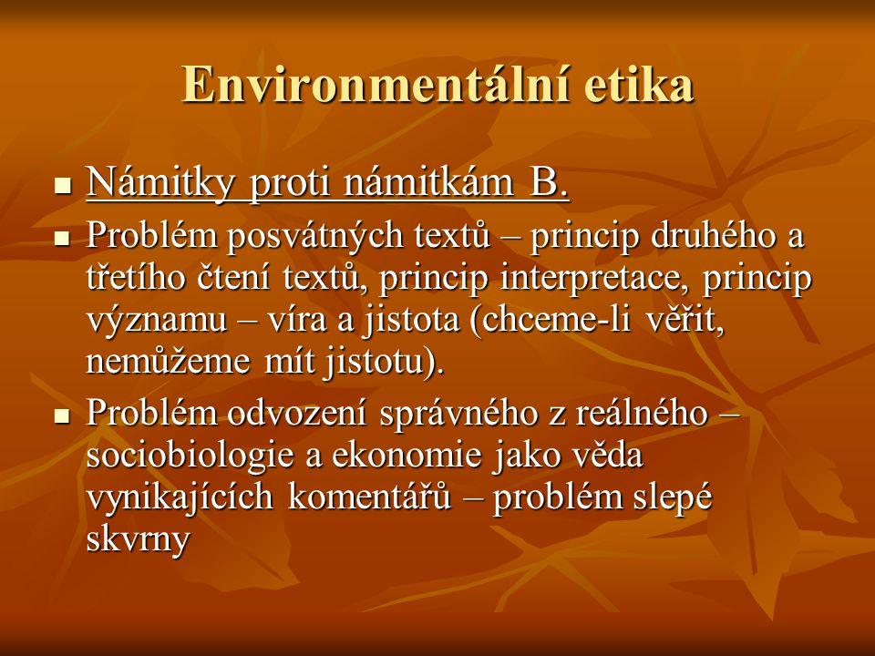 Environmentální etika