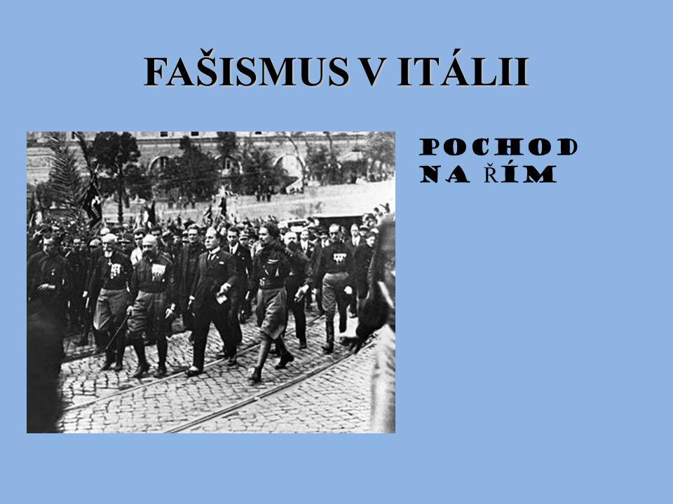 FAŠISMUS V ITÁLII Pochod na Řím