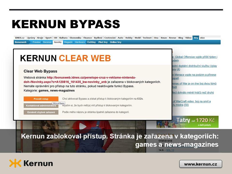 KERNUN BYPASS Kernun zablokoval přístup. Stránka je zařazena v kategoriích: games a news-magazines.