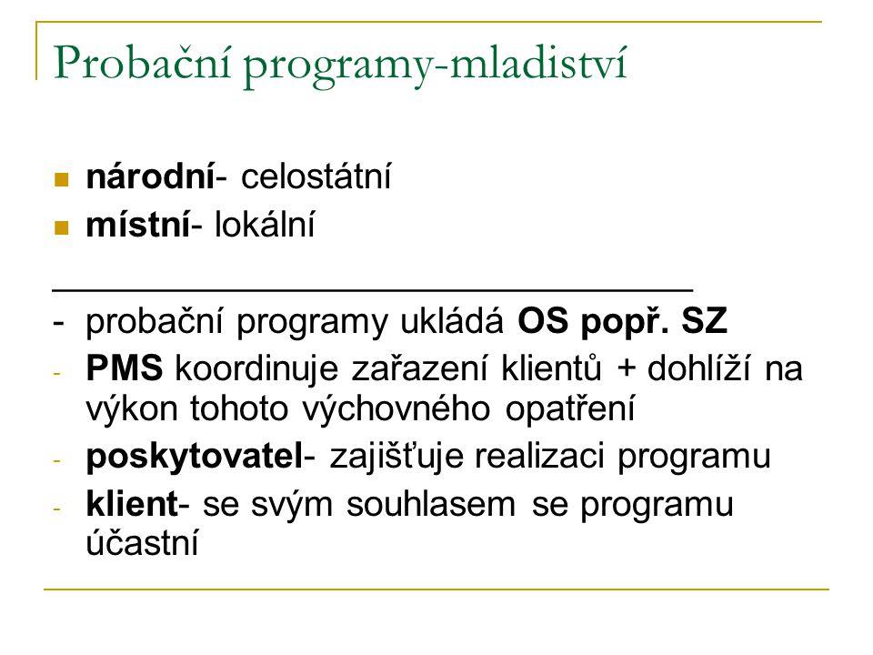 Probační programy-mladiství