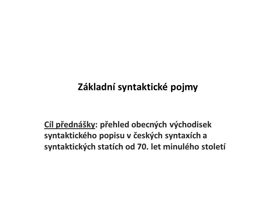 Základní syntaktické pojmy