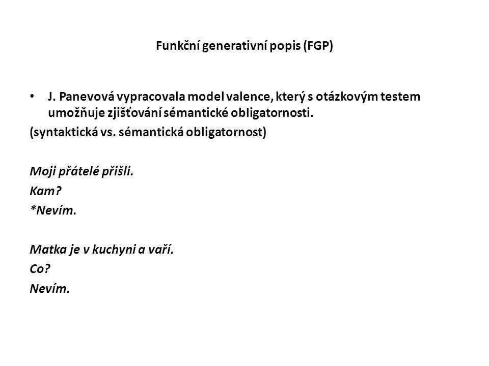 Funkční generativní popis (FGP)